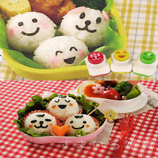 3PCS DIY Cute Smile Sandwich Tool Sushi Nori Rice Mold Decor Cutter Bento Maker