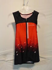 Louis Garneau Men's Tri Course Sleeveless Triathlon Top XS Black/Flame