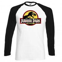 Jurassic Park T-Shirt Long Sleeve Base Ball Vintage Shirt