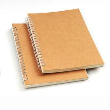 "B6 KRAFT cover Spiral Notebook 5.1x7.5"" Wirebound 60 Sheets 100gsm writing paper"