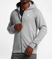 Nike Air Jordan Flight Men's Sz M Gray Basketball Full-Zip Hoodie  AA5583 063