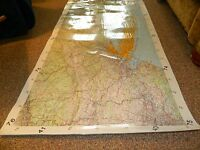 Custom Laminated USGS Topographic Map Of Philadelphia, PA To Boston, MA  USED