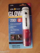 2 X Life Gear Auto Glow Rechargable Flashlight with Free Replacement Battery TWO