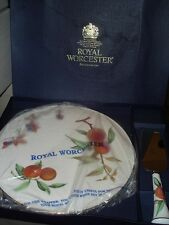 Très beau plat gâteau cake royal worcester + pelle porcelaine anglaise NOEL NEUF