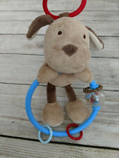 CARTER'S Child of Mine ~ Brown Dog Puppy Activity Rattle Plush Hang Down Rings