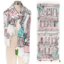 NWT Kate Spade New Orleans House Scarf Cream