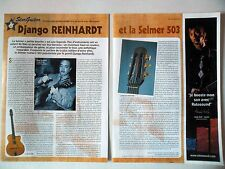 COUPURE DE PRESSE-CLIPPING : DJANGO REINHARDT [2pages] 2003 Guitare Selmer 503