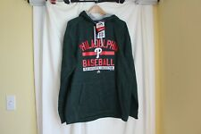 Philadelphia Phillies Majestic NWT Thermabase mens Large green hooded sweatshirt