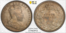 1902H Canada Small H Five Cents Silver - PCGS MS63 - Nice Original toning