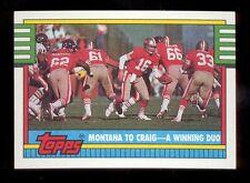 1990 Topps JOE MONTANA San Francisco 49ers Team Card