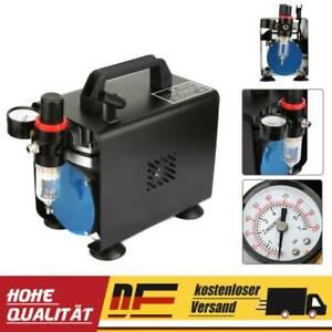 Airbrush Kompressor 4Bar Lufttank Wasserabscheider Druckminderer Manometer AU 07