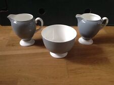 Wedgwood 2 Footed Milk Jugs & 1 Open Sugar Bowl, Early Green Backstamp.
