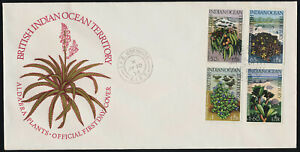 British Indian Ocean Terr 78-81 on FDC - Flowers, Native Plants