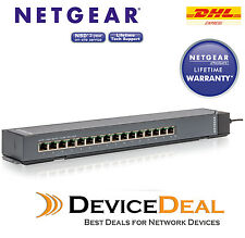 NETGEAR GSS116E ProSAFE 16 Port 10/100/1000 Base-T RJ45 Gigabit Desktop Switch