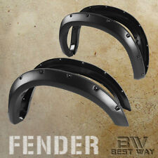 Black Textured Pocket Riveted Fender Flares Cover For 2007-2013 Toyota Tundra