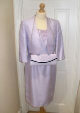 BNWT 10 Jacques Vert Lilac Mother of the Bride Beaded Dress Suit Jacket Bag