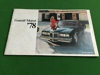 Vintage GM 1978 All Models Sales Brochure Chevy, Pontiac, Olds, Buick,  Cadillac