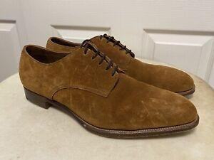 EDWARD GREEN ENGLAND NUTMEG SUEDE Oxfords Shoes Men's UK 10 US 10.5