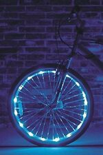 """Wheel Brightz 1 Blue Light LED Bike Bicycle Safety Scooter Tube Waterproof 20""""+"""