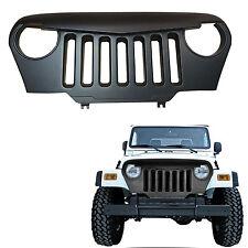 97-17 Jeep Wrangler TJ LJ Front Matte Black Angry Bird Grille Grid Grill Car
