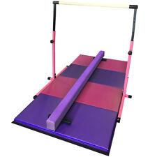 Gymnastics Bar Beam and Mat Set - Pink and Purple