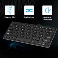 Mini USB Keyboard 78-Key Small Waterproof Keyboard ±5VDC ±10% for PC office F5F4
