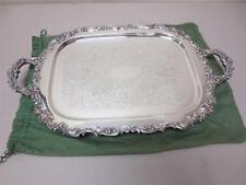 Keystonwear Heavy Silverplate Serving Tray Platter Edwards & Lebron Jewelers