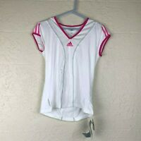NEW! Adidas Barricade Sample Womens Size Small Pink Short Sleeve Athletic Shirt