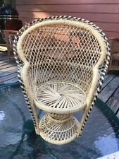 Vintage Handwoven Decorative Chair Made In Philippines