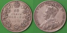 1919 Canada Silver Maple Boughs Half Dollar Graded as Very Good