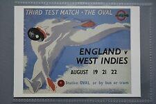 R&L Modern Postcard: Poster 1939 Cricket Third Test Match by Bus or Tram