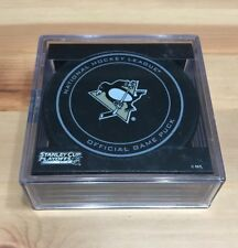 PITTSBURGH PENGUINS 2013 STANLEY CUP PLAYOFFS NHL OFFICIAL GAME PUCK w/Puck Cube