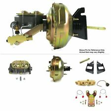 73 87 Chevy Truck Sbc Firewall Mount Power 11 Dual Brake Booster Kit Discdrum