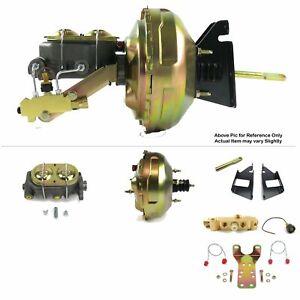 "73-87 Chevy Truck SBC Firewall Mount Power 11"" Dual Brake Booster Kit Disc/Drum"