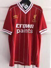 Retro 1982 Umbro Crown Paints Liverpool FC Home Shirt