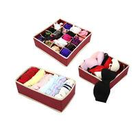 Circular Pattern Socks Box Underwear Household Wardrobe Storage Box Set 6A