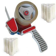 Tape Gun Dispenser + 3 Rolls Of Clear Tape Packaging 48mm X 66m Parcel Packing