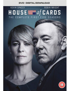 House of Cards: Seasons 1-5 DVD (2017) Kevin Spacey cert 18 20 discs ***NEW***