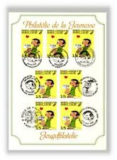 FRANQUIN rare Feuillet Luxe Timbres Gaston 7 cachets Poste Belge 1992