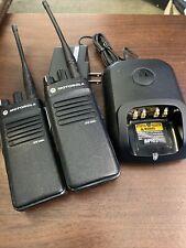 Lot Of 2 Motorola Xpr 3300e Uhf Moto Trbo Two Way Portable Radios W/Charger