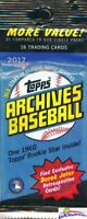 2017 Topps Archives Baseball EXCLUSIVE Jumbo Fat Factory Sealed Pack-18 Cards!