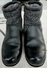Ugg Boys Bayson Winter Boots Black Leather Wool Waterproof Zip Shoes 1007810K 5