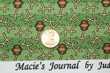 """""""CIVIL WAR MACIE'S JOURNAL"""" REPRODUCTION QUILT FABRIC BTY MARCUS 2362-0114"""