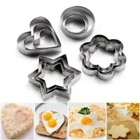 12 Pcs Metal Biscuit Pastry Cookie Cutter Sugar Cake Decor Baking Mould Tool