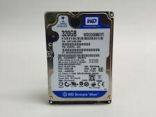 """Lot of 2 Western Digital Scorpio Blue WD3200BEVT 320GB 2.5"""" SATA II Hard Drive"""