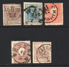 Austria 5 Stamps c1850-64 Used (few faults)