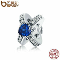 BAMOER Solid S925 Sterling silver Charm life companion With CZ For bracelet