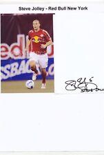 Steve Jolley  Red Bull New York  30 x 20 cm Fußball Karte signiert 403149