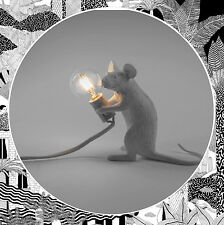 Seletti Mouse Lamp Sitting White-Seated Sit Animal Rat Table Light LED Bulb Mice