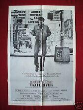 Taxi Driver *1976 Original Movie Poster 1Sh Rare U.S. Alt. Style B Robert Deniro